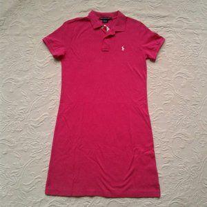 Ralph Lauren Sport Dress Polo Hot Pink Medium NWT